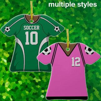 Soccer Jersey Ornaments