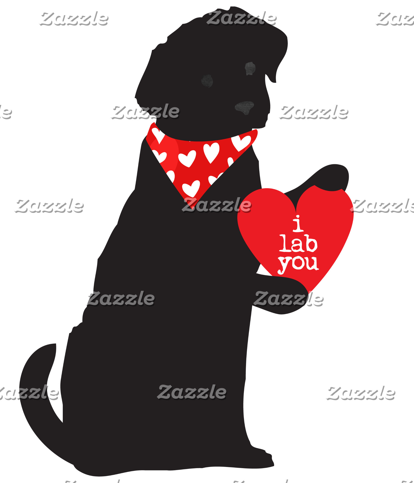 Valentine Black Lab