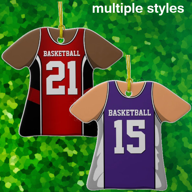 Basketball Jersey Ornaments
