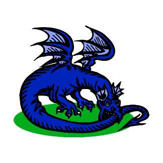 Blue Dragon Biting Tail