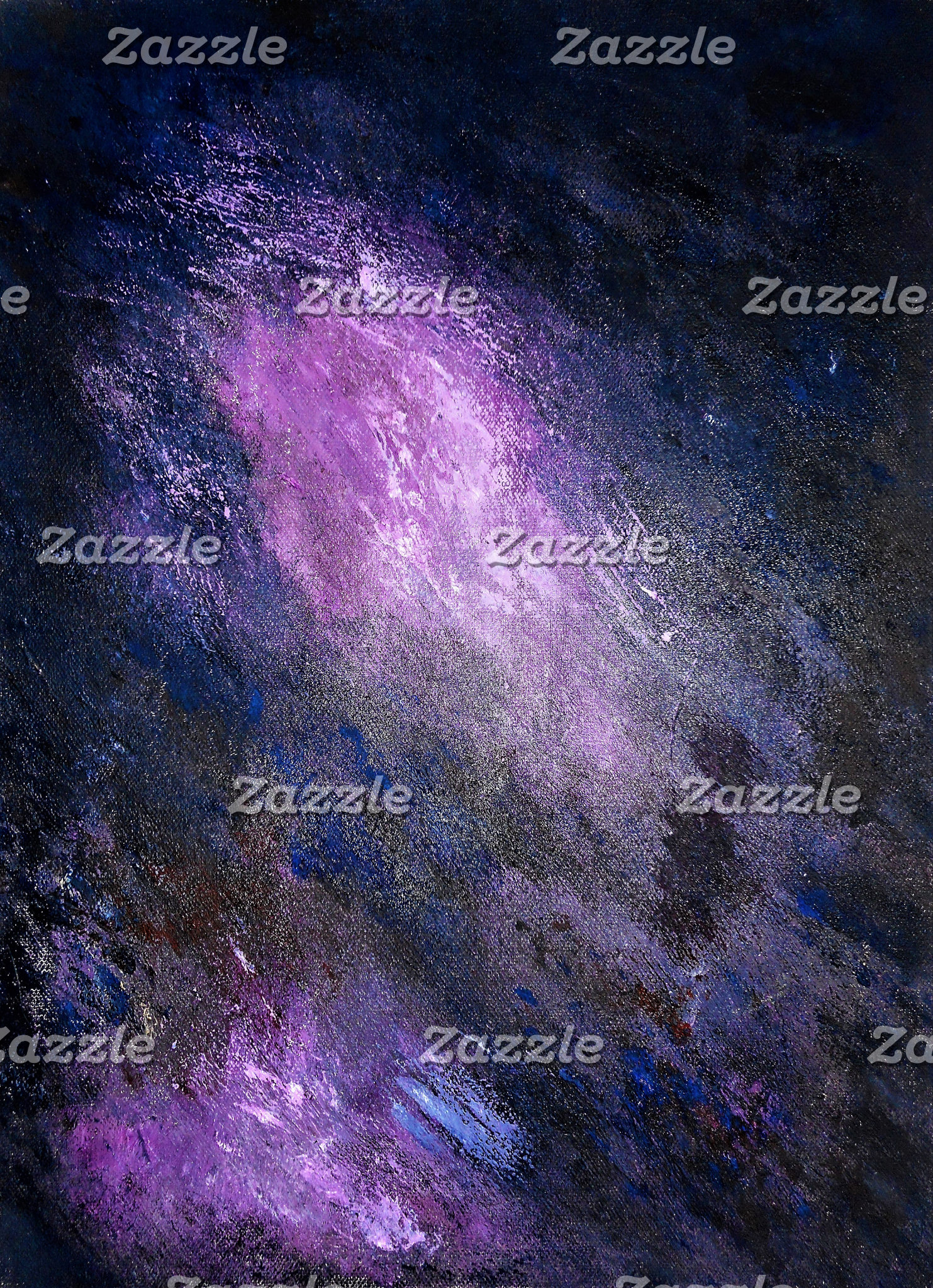 Lavender and Black Abstract