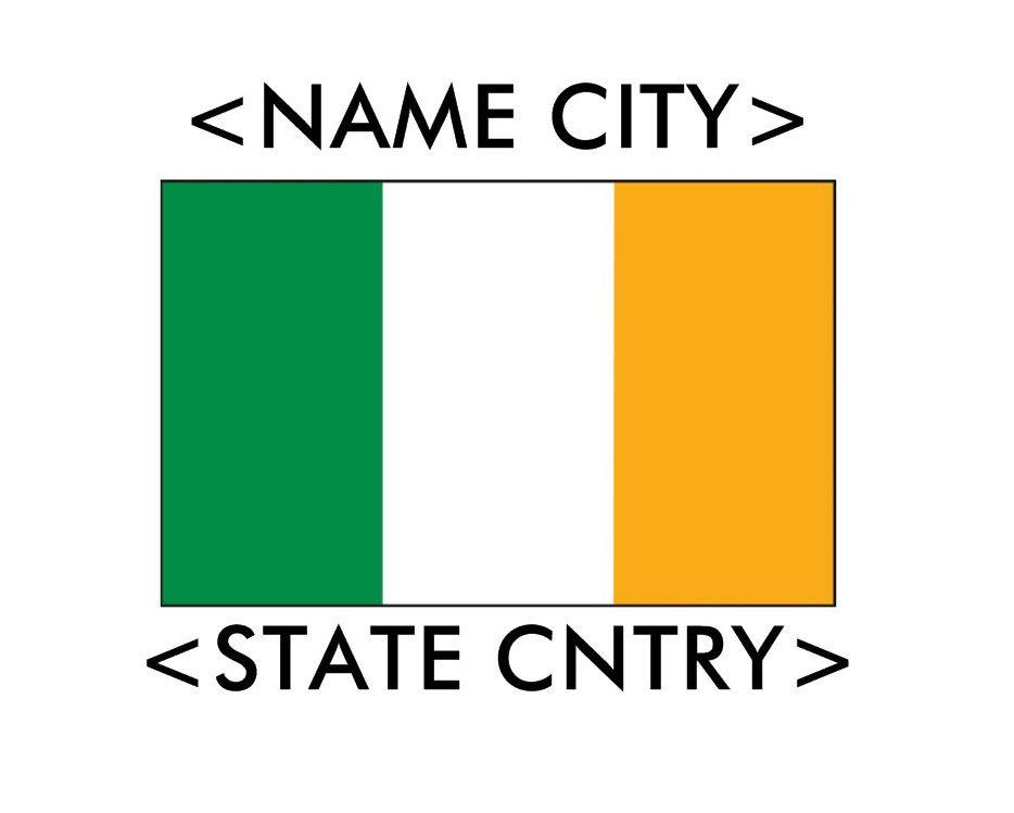 Personalized Ireland Flag T-Shirts