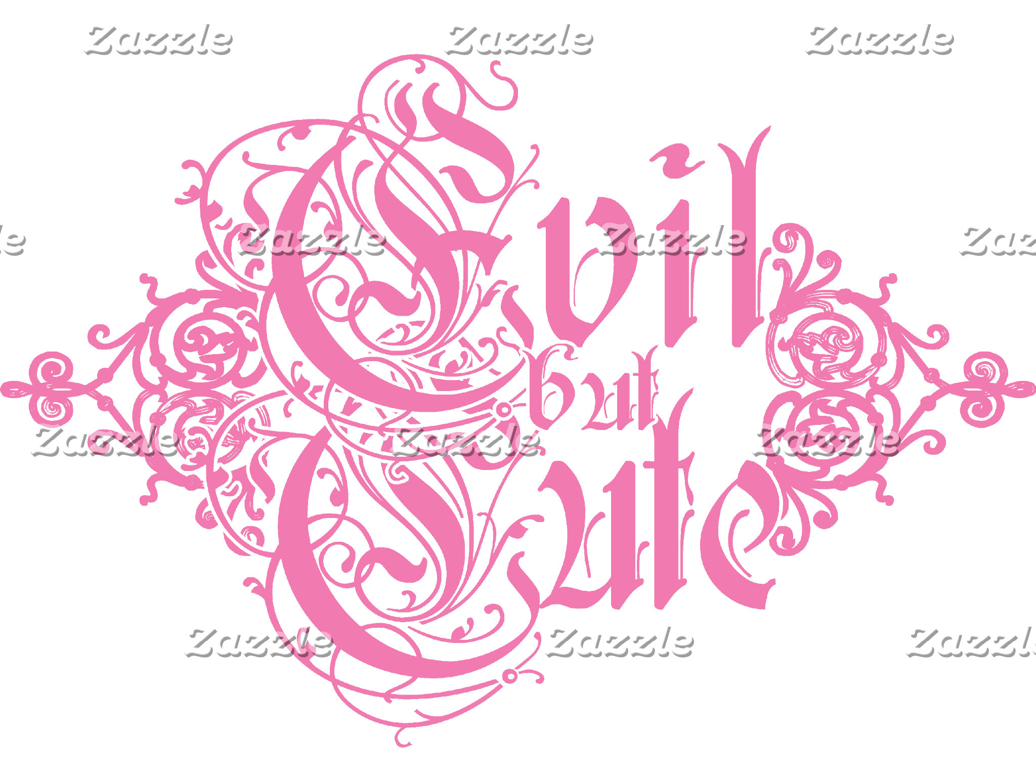 Pink Evil But Cute T-shirts and Gifts