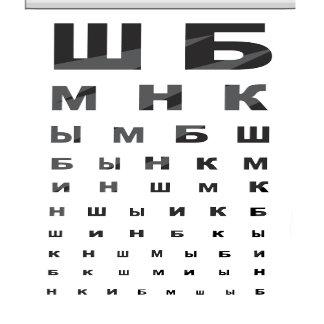 Russian Eye Chart