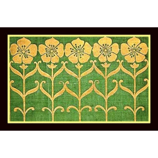 Retro Golden Flowers Products
