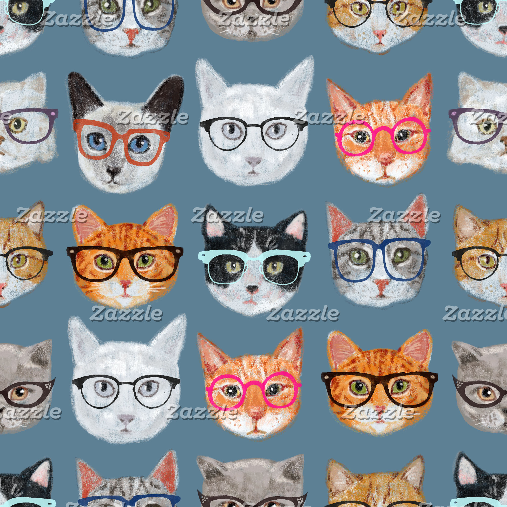 Cats Wearing Glasses *NEW*