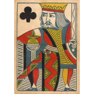 """""""King of Clubs Card Poster Print"""""""