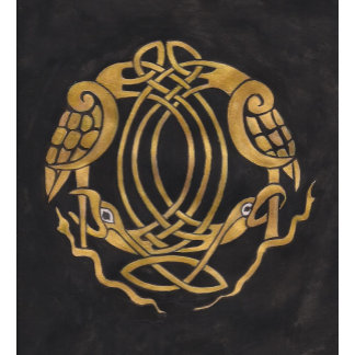 Stylised Celtic Knot with Bird Design Products