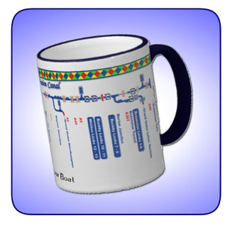 Canal Route Map Mugs