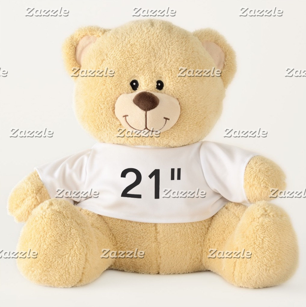 "21"" Teddy Bears - All Font Examples"
