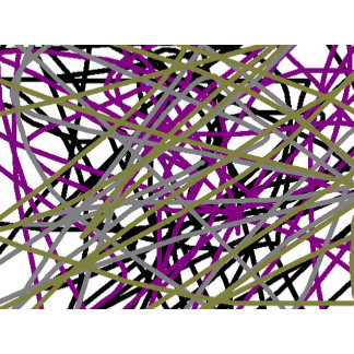 Purple, Gold, Black Abstract Line-Art