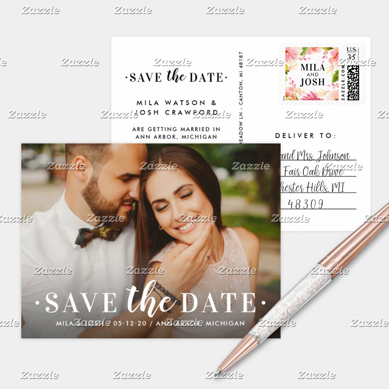 Wedding Save the Date Postcards 💍