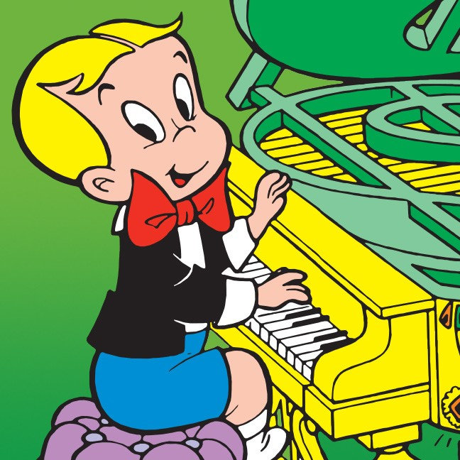 Richie Rich Playing Piano