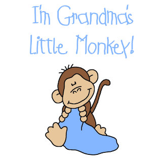 Grandma's Little Monkey - Blue