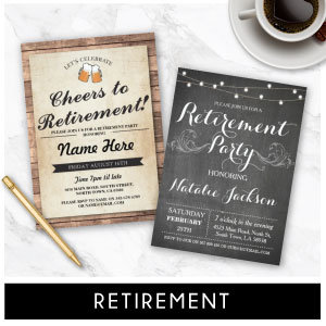Retirement Invites