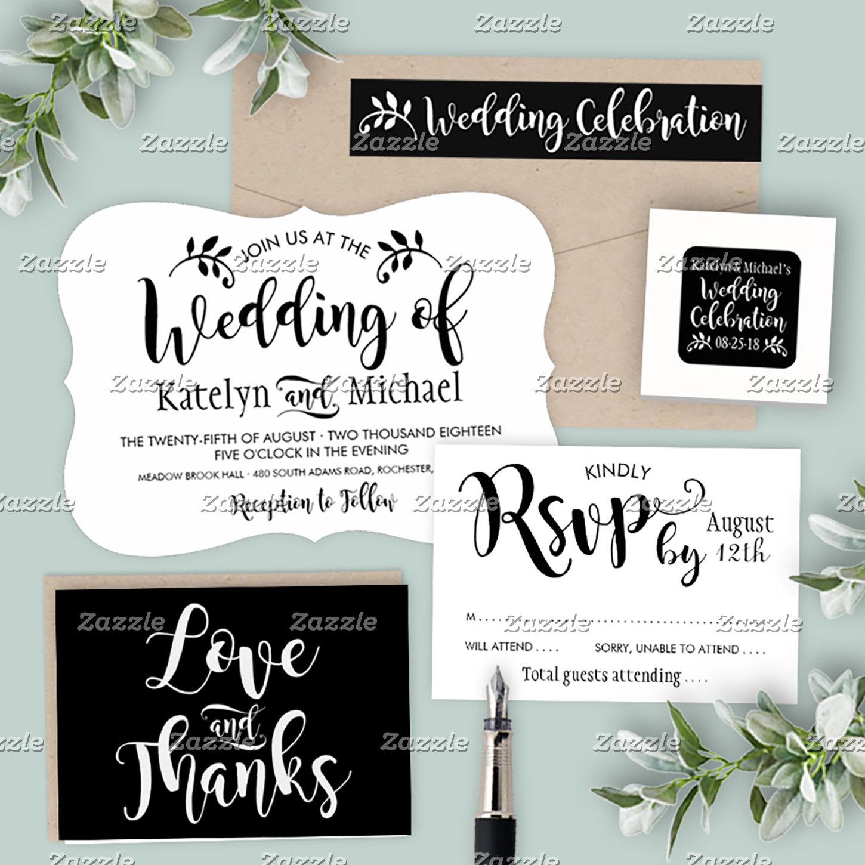 Wedding Collection | Stylish Black Script