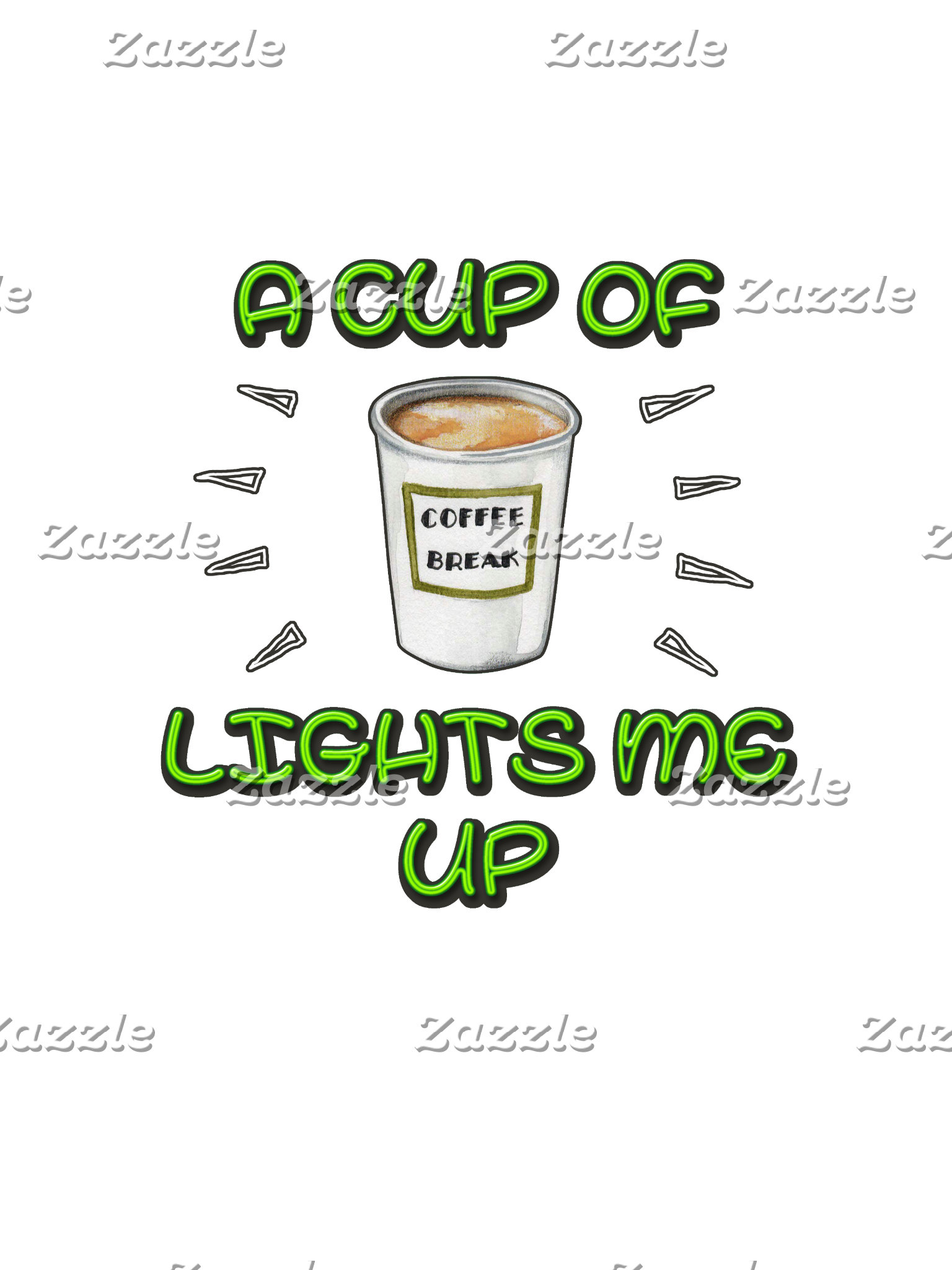 A Cup of Coffee Lights me Up