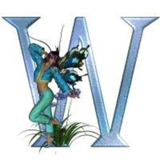 Fairy Blue Monogram