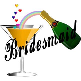 Champagne Toast Bridesmaid