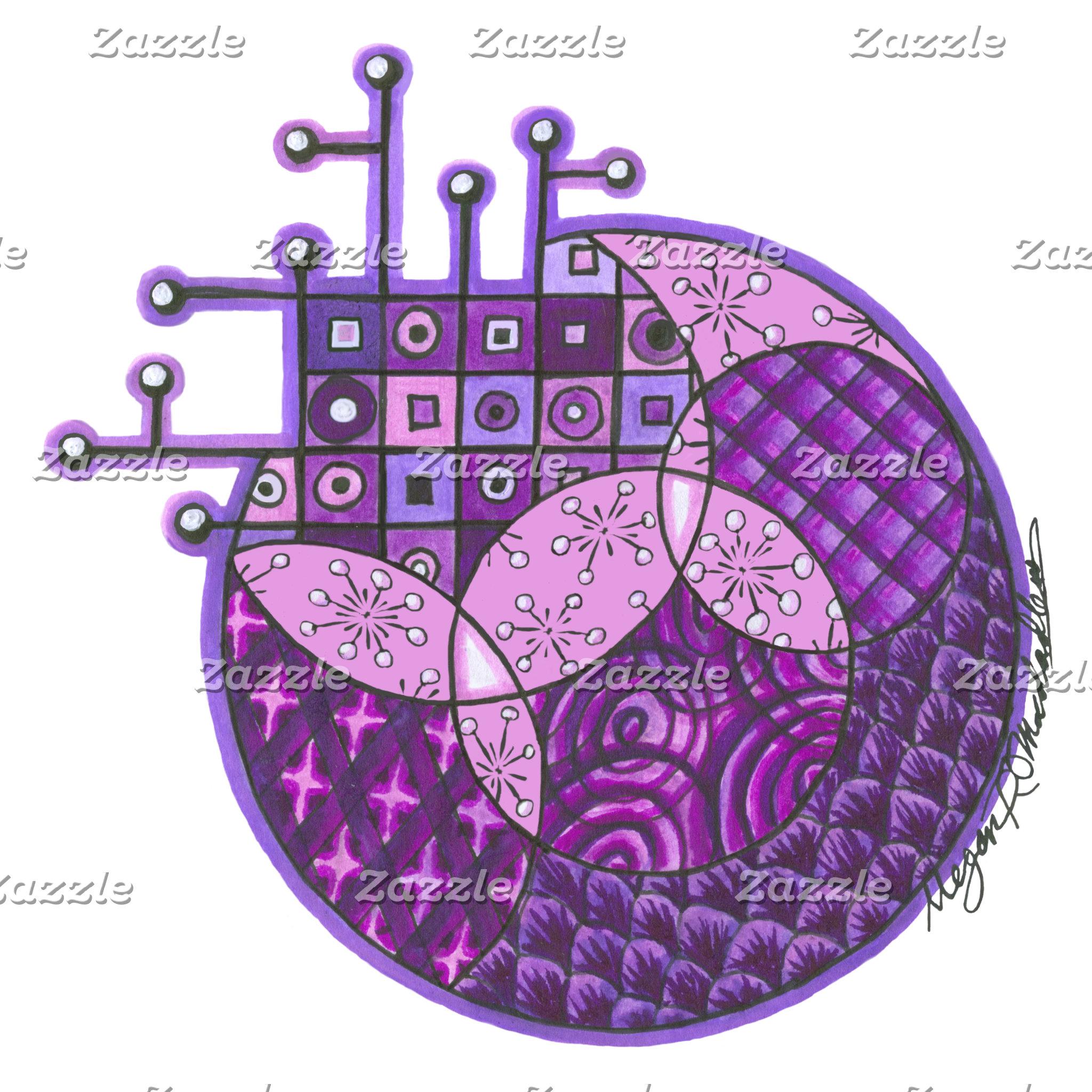 """Purple Circuit"" Tangle"