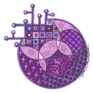 """Purple Circuit"" Tangle"