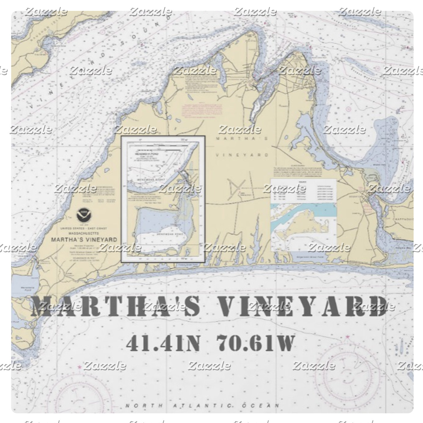 Nautical Boating Charts: Martha's Vineyard