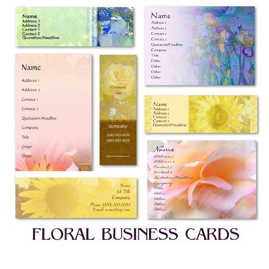 FLORAL Business Cards (Large Selection!)