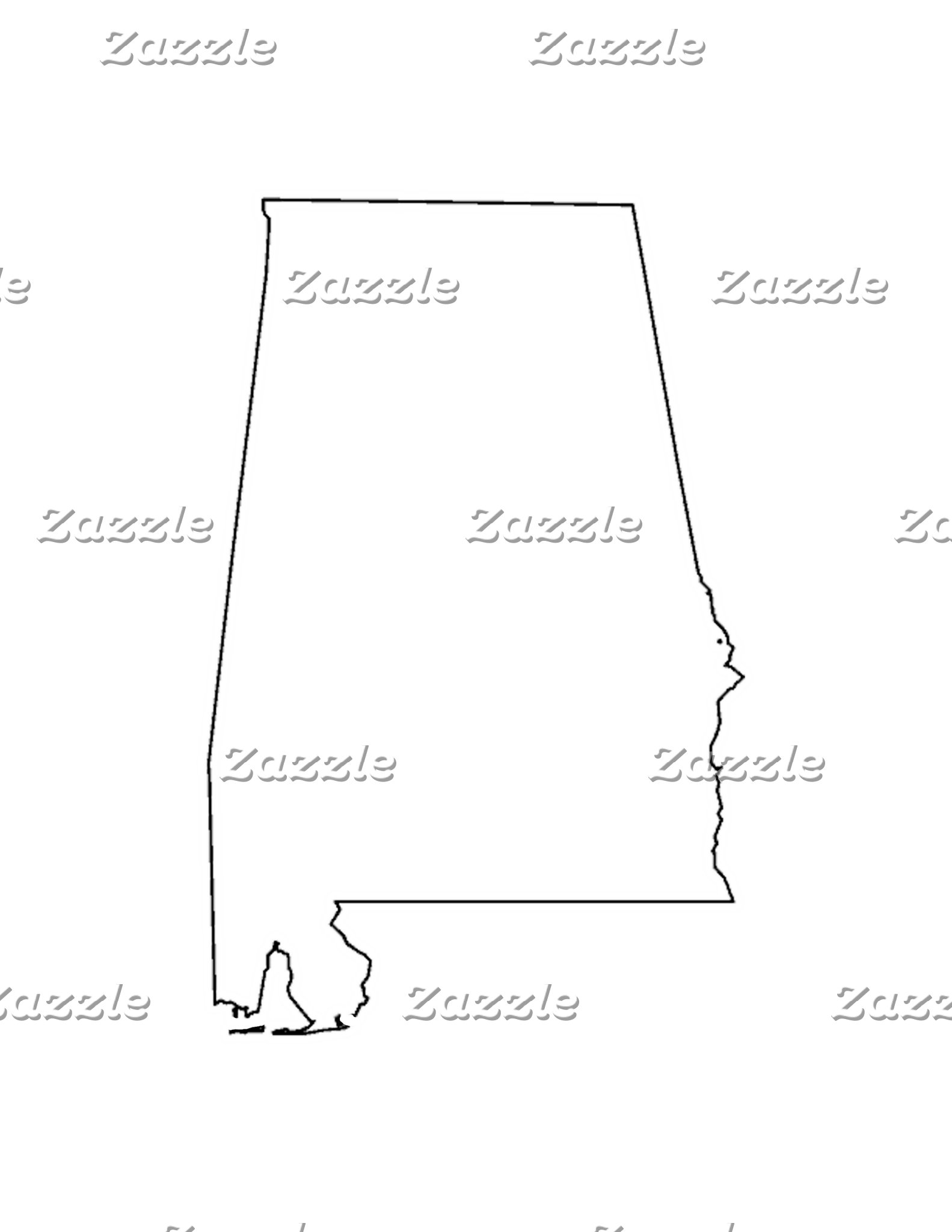 Alabama outline jGibney The MUSEUM Zazzle Gifts