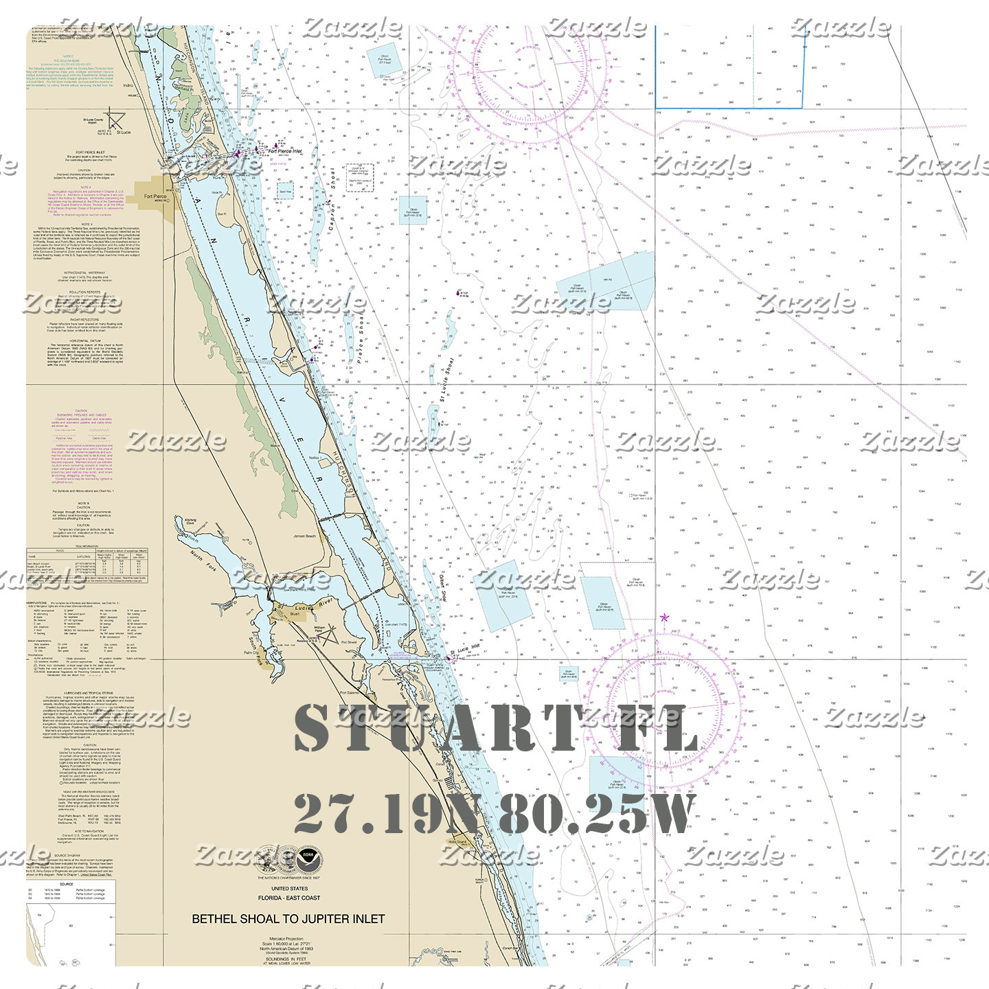 Nautical Boating Charts: Stuart Florida