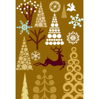 trendy brown holiday pattern