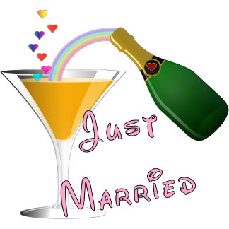 Just Married Champagne Wedding Toast