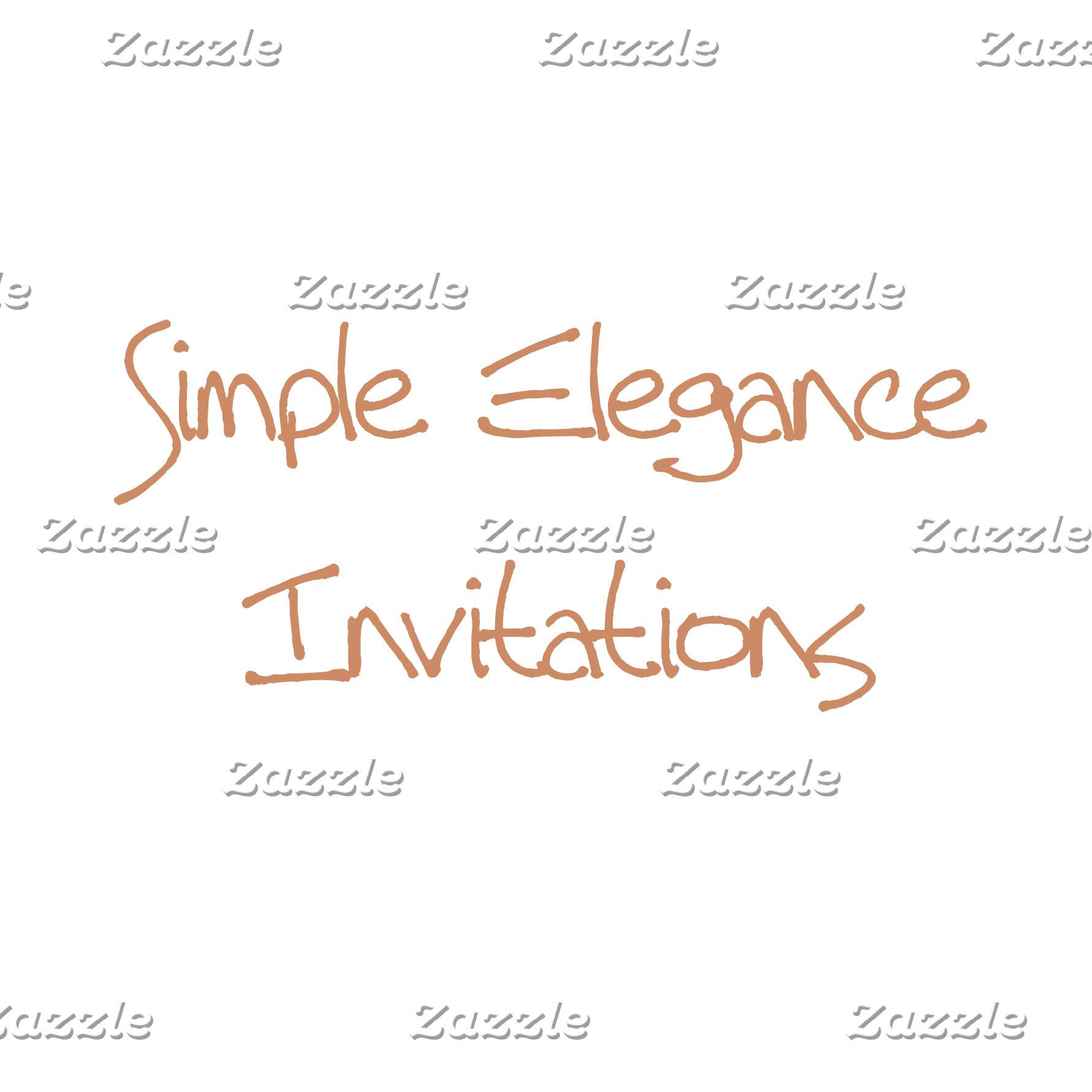 Simple Elegance Invitations
