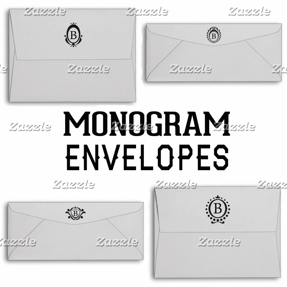 Monogram Envelopes