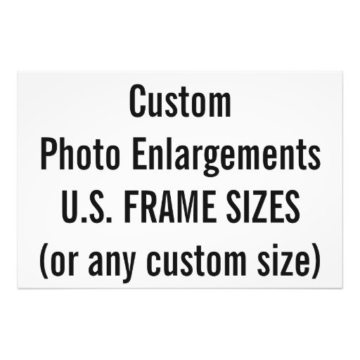 U.S. Frame Sizes (inches)