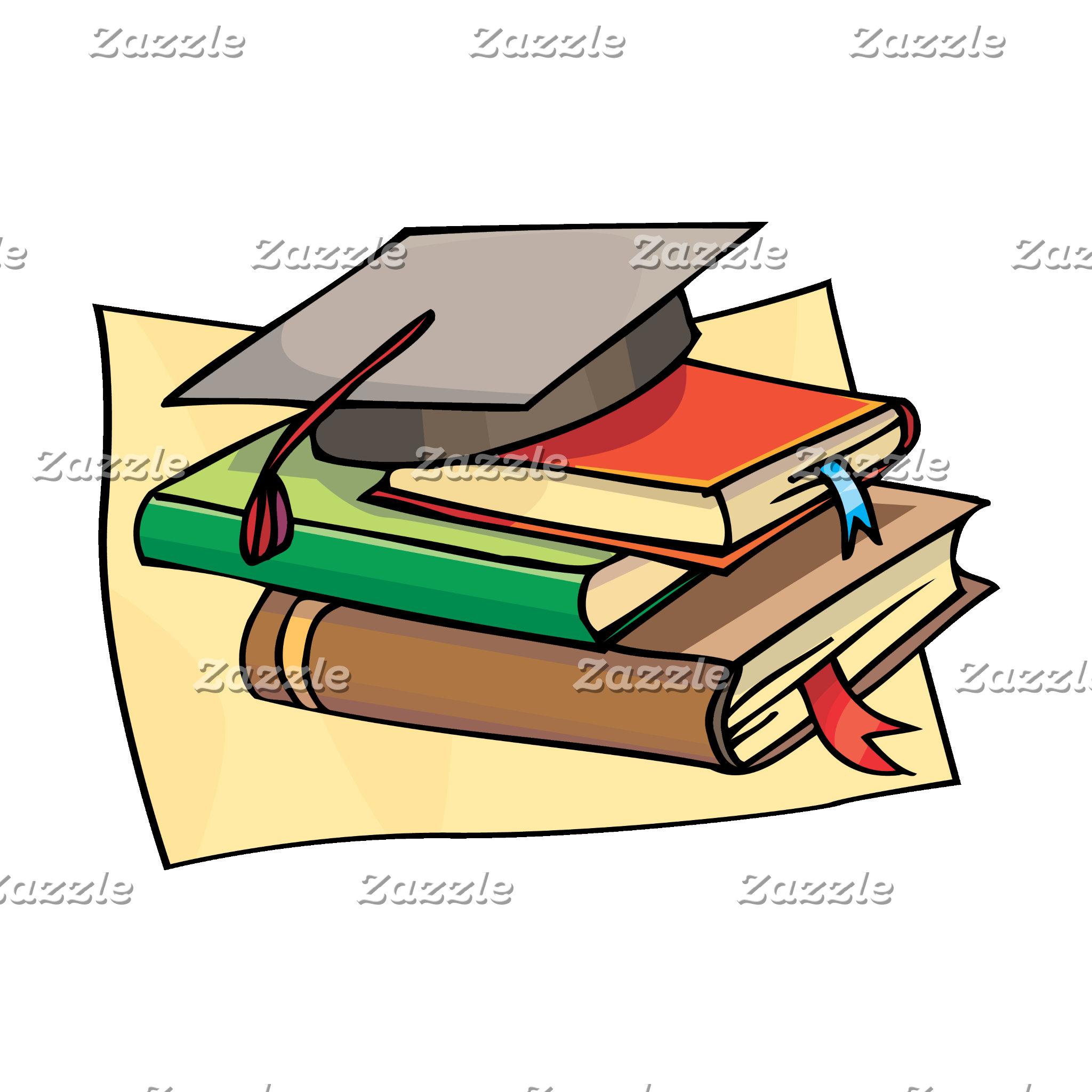 Cap and books
