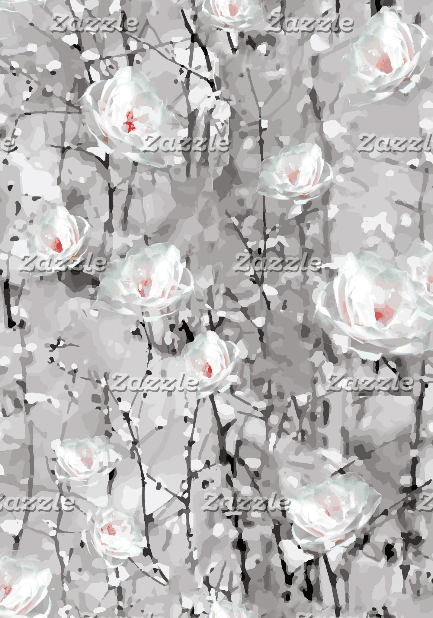 Ice Rose Print