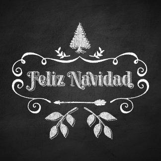 Feliz Navidad Arrow Chalkboard