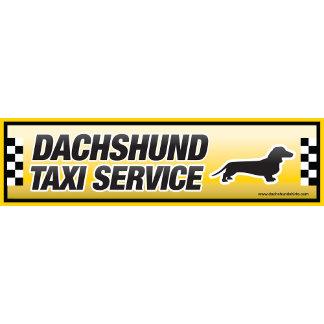 Dachshund Taxi Service