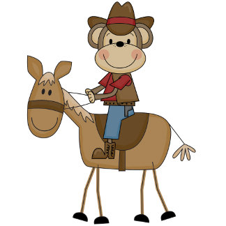 Cowboy with Brown Horse