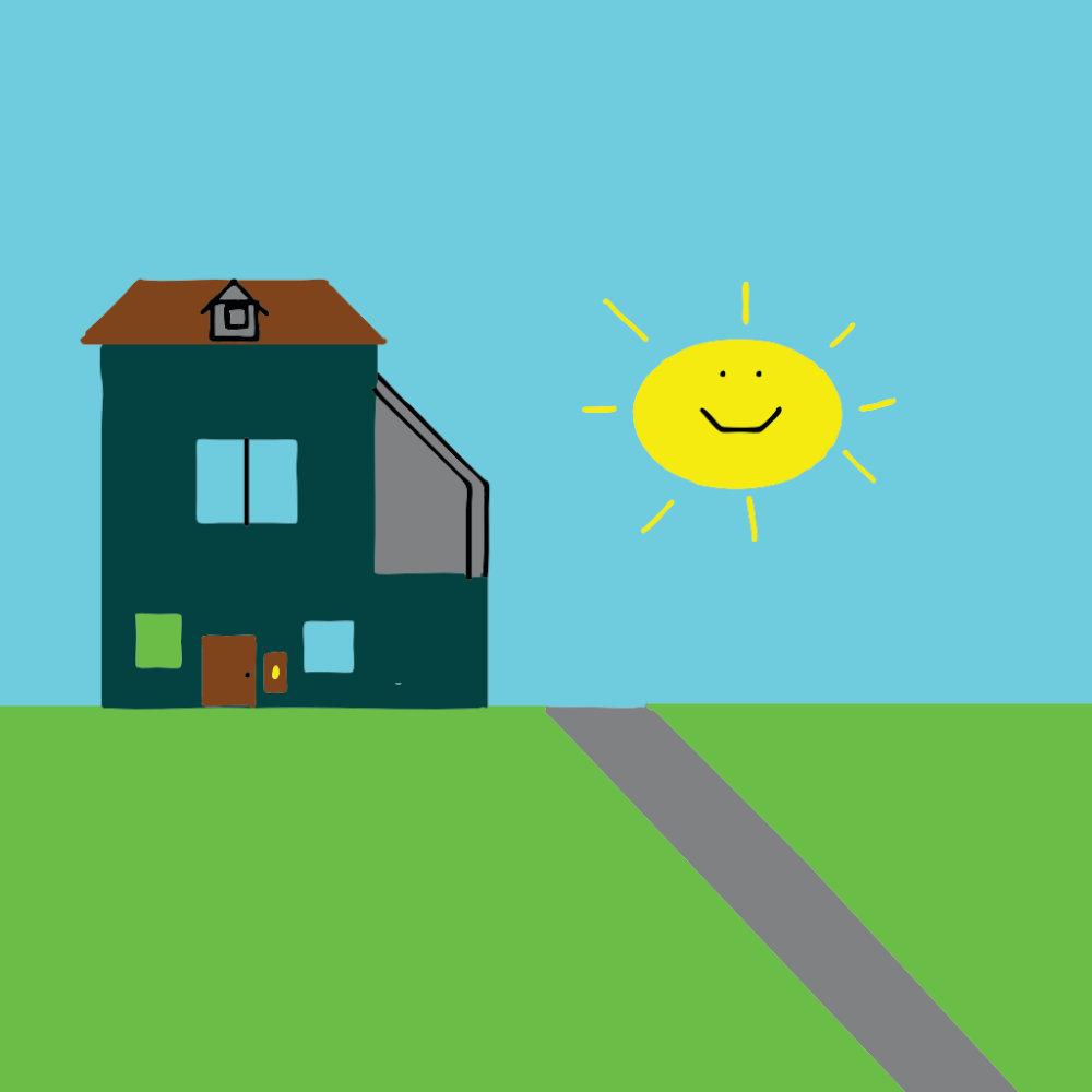House Sky & Sunshine - Kid Art