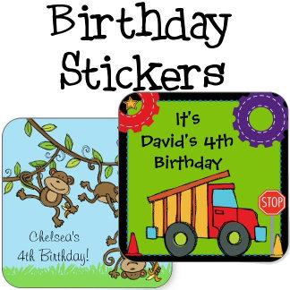 Birthday Custom Stickers