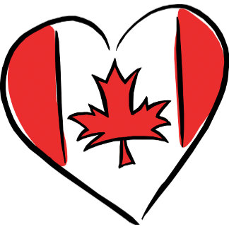 I  Love Canada T-Shirt Gifts Cards
