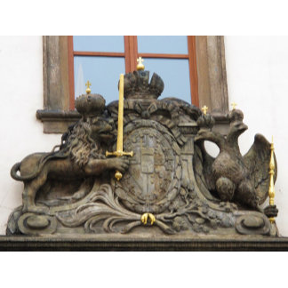 Czech lion with sword symbol - coat of arms