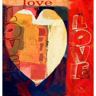 Abstract Art Heart Love
