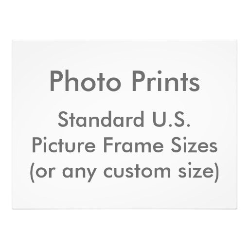 Picture Frame Sizes (USA)