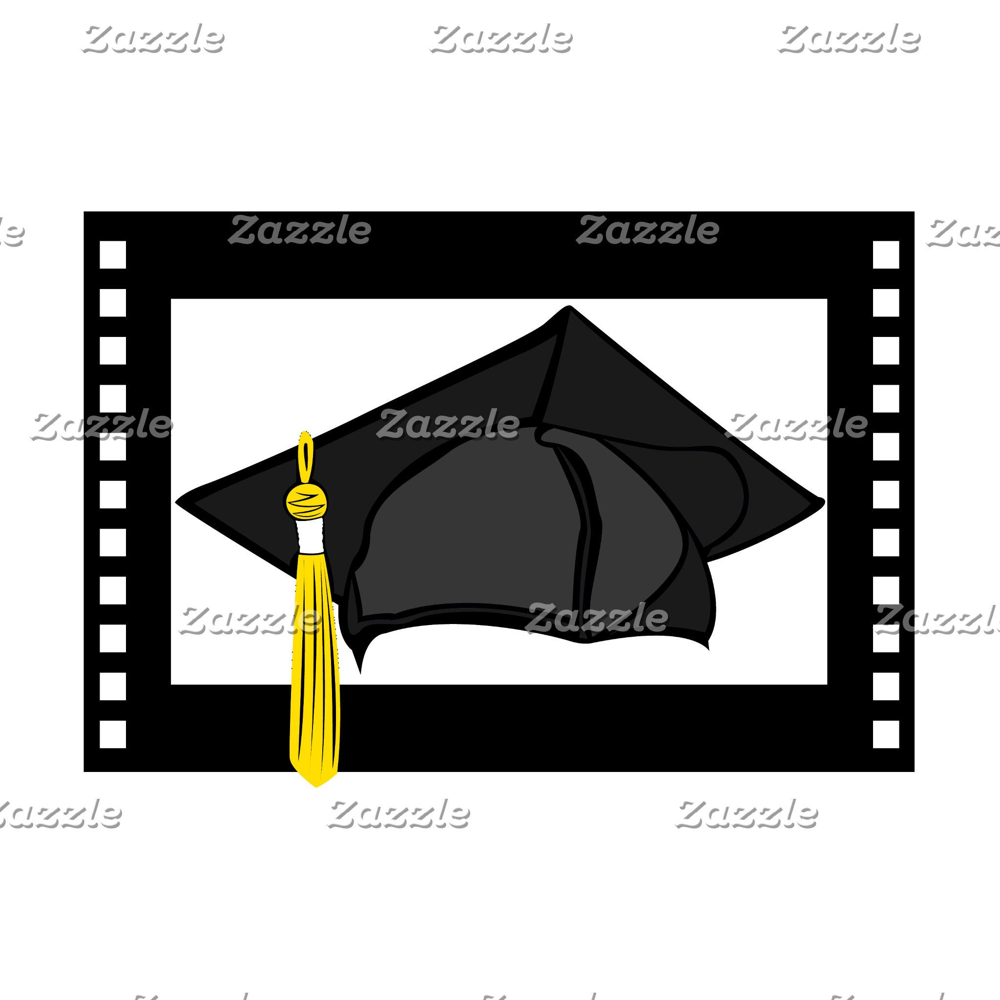 Black Cap Gold Tassel