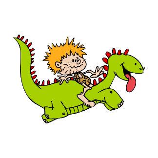 Caveboy & his dragon pet