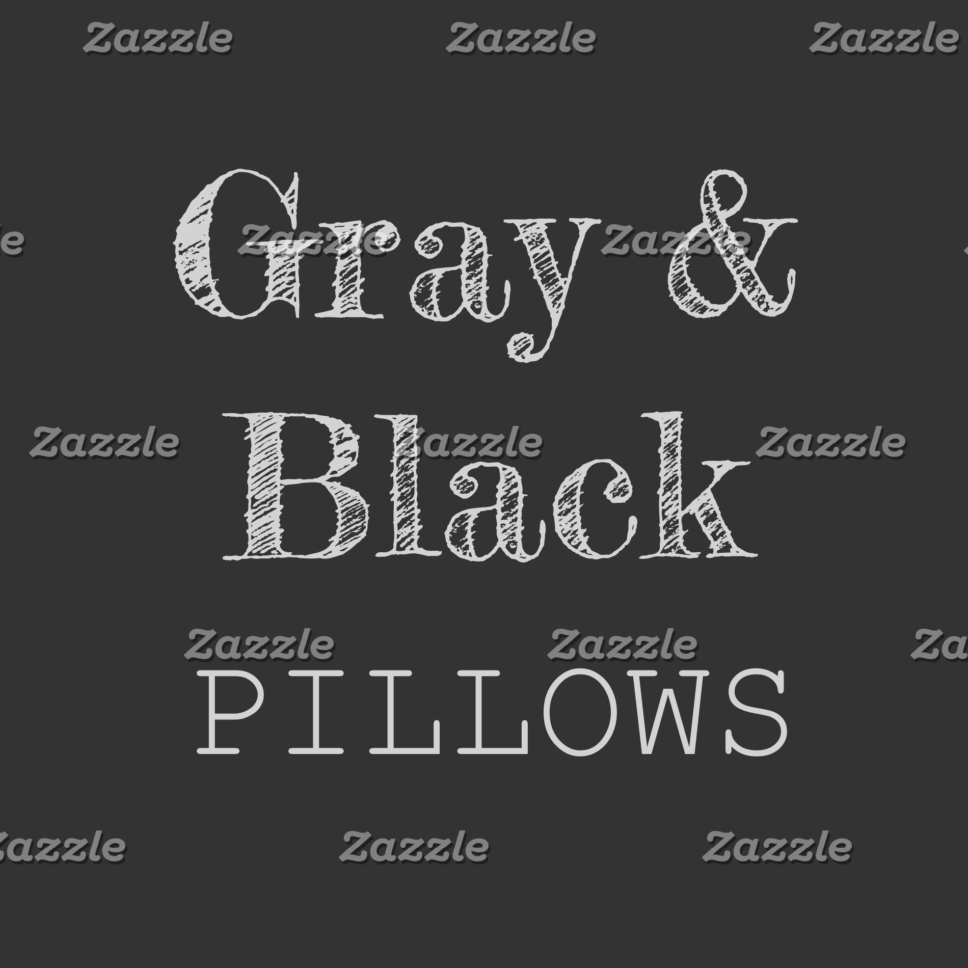 Gray, Black & Silver Pillows