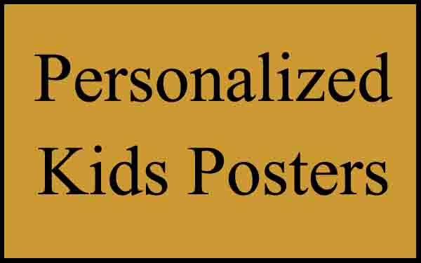 Personalized Kids Poster