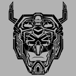 Voltron | Voltron Head Fractured Outline